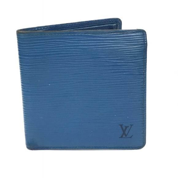 a0afc3239e8b Louis Vuitton Other - Louis Vuitton Marco Wallet - Blue Epi Leather